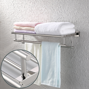 Kes Bathroom Hotel Bath Towel Rack With Double Towel Bar 23 3 Inch Wall Mount Shelf Rustproof Stainless Steel Modern Brushed Finish A2112s60 2 Home Kitchen