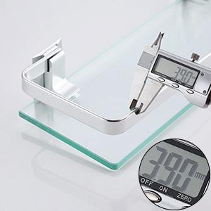 Amazon.com: Baño estante de vidrio Kes con riel de ...