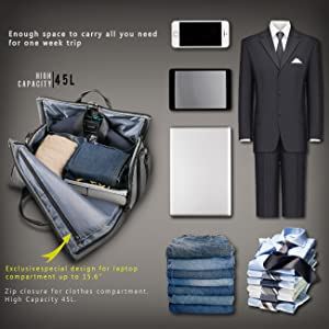16e7d777e4 Amazon.com  BUG Travel Garment Bag and Duffel