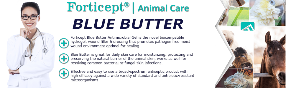 animal care, wound care, forticept, blue butter, itch remedies, cat care, dog care, bird care, horse