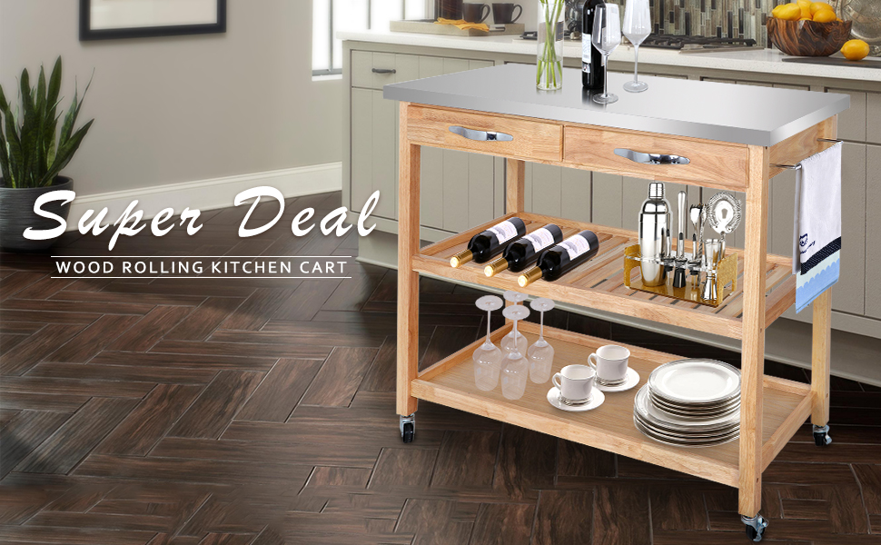 SUPER DEAL Zenchef Rolling Kitchen Island Utility Kitchen Serving Cart on light kitchen ideas, fun kitchen ideas, zen color, contemporary kitchen ideas, star kitchen ideas, olive kitchen ideas, kitchen decorating ideas, dream kitchen ideas, family kitchen ideas, photography kitchen ideas, creative kitchen ideas, wood kitchen ideas, travel kitchen ideas, gypsy kitchen ideas, red kitchen ideas, black kitchen ideas, kitchen space ideas, zebra kitchen ideas, home kitchen ideas, garden kitchen ideas,