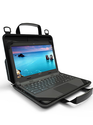 UZBL 12-14 inch EVA Always On Work-in Protective Laptop Sleeve and Case with Carrying Handle and Screen Clips for Chromebook, Ultrabook and Notebooks, ...