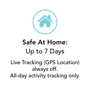safe at home up to 7 days battery live tracking off