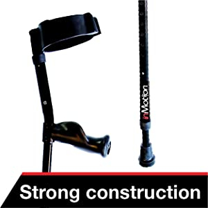 Close up look of the quality construction and build quality of these versatile crutches