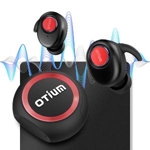 Amazon Com Wireless Earbuds Otium Soar True Bluetooth Headphones Wireless Earphones Bluetooth 5 0 Auto Pairing Hifi Stereo Sound Sweat Proof Headset With Stylish Charging Case Updated Version Electronics