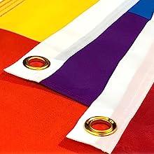 banner grommets festive polyester party rainbow pride LGBT LGBTQ LGBTQA LGBT+ indoor outdoor parade