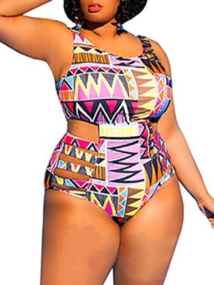 d807f07de5b YONYWA Womens One Piece High Waist Plus Size Swimsuits Sexy Tummy ...