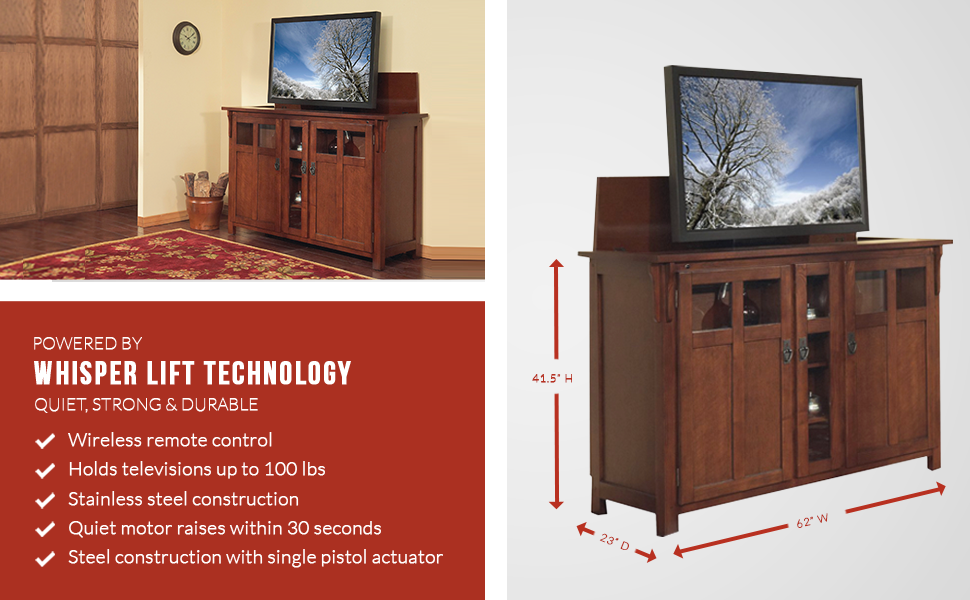 add a touch of a modernretro ambiance to your home with bungalow tv lift cabinet