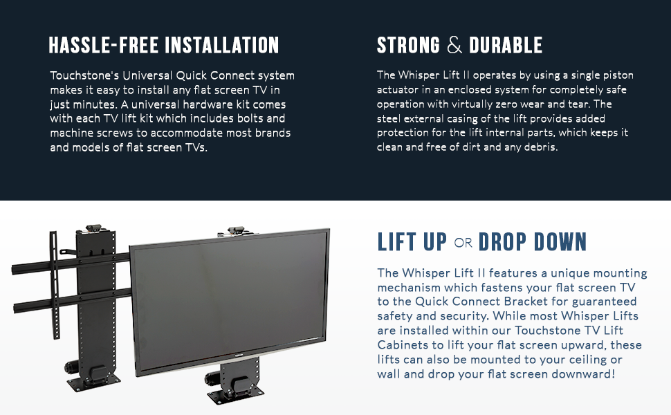 Touchstone 23202 Whisper Lift Ii Flat Screen Motorized
