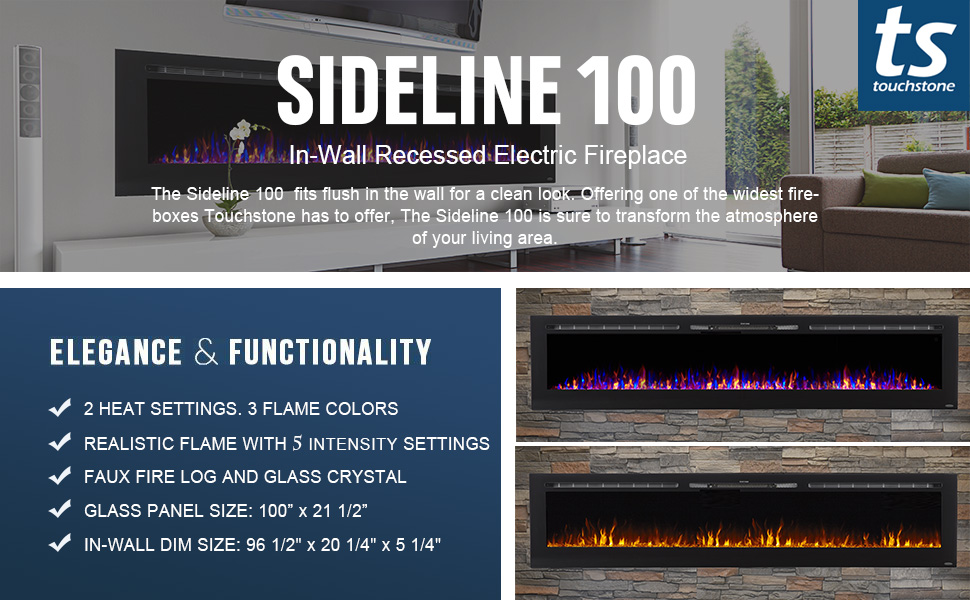 80032 Sideline 100 Electric Fireplace