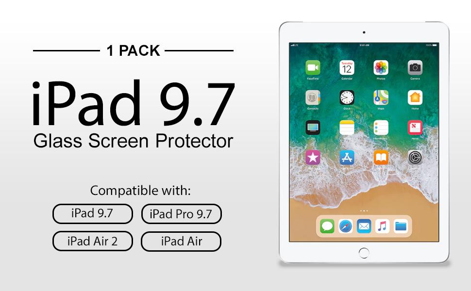 Amazon Com Amfilm Ipad 9 7 Screen Protector Tempered Glass For