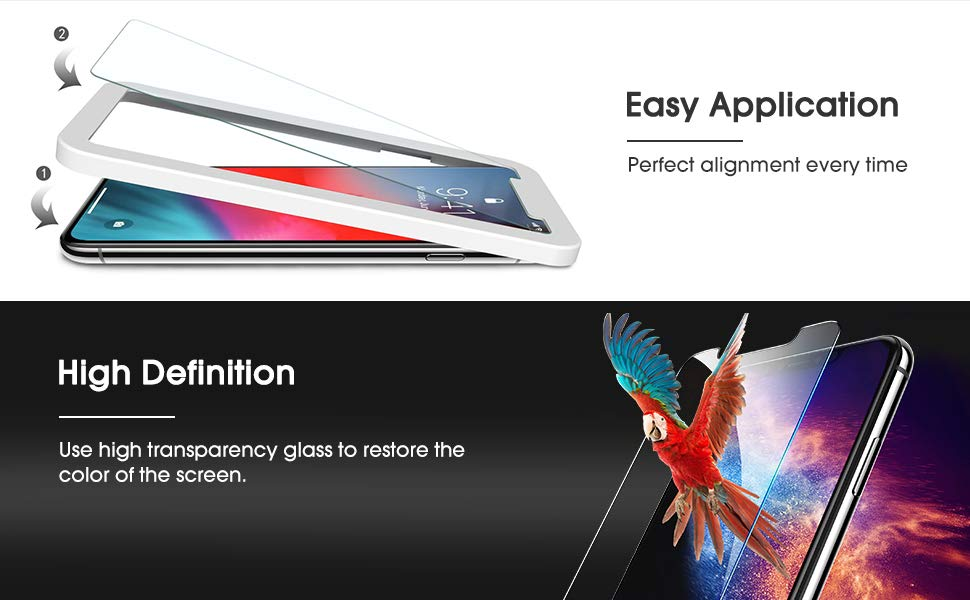 iphone xs screen protector tempered glass