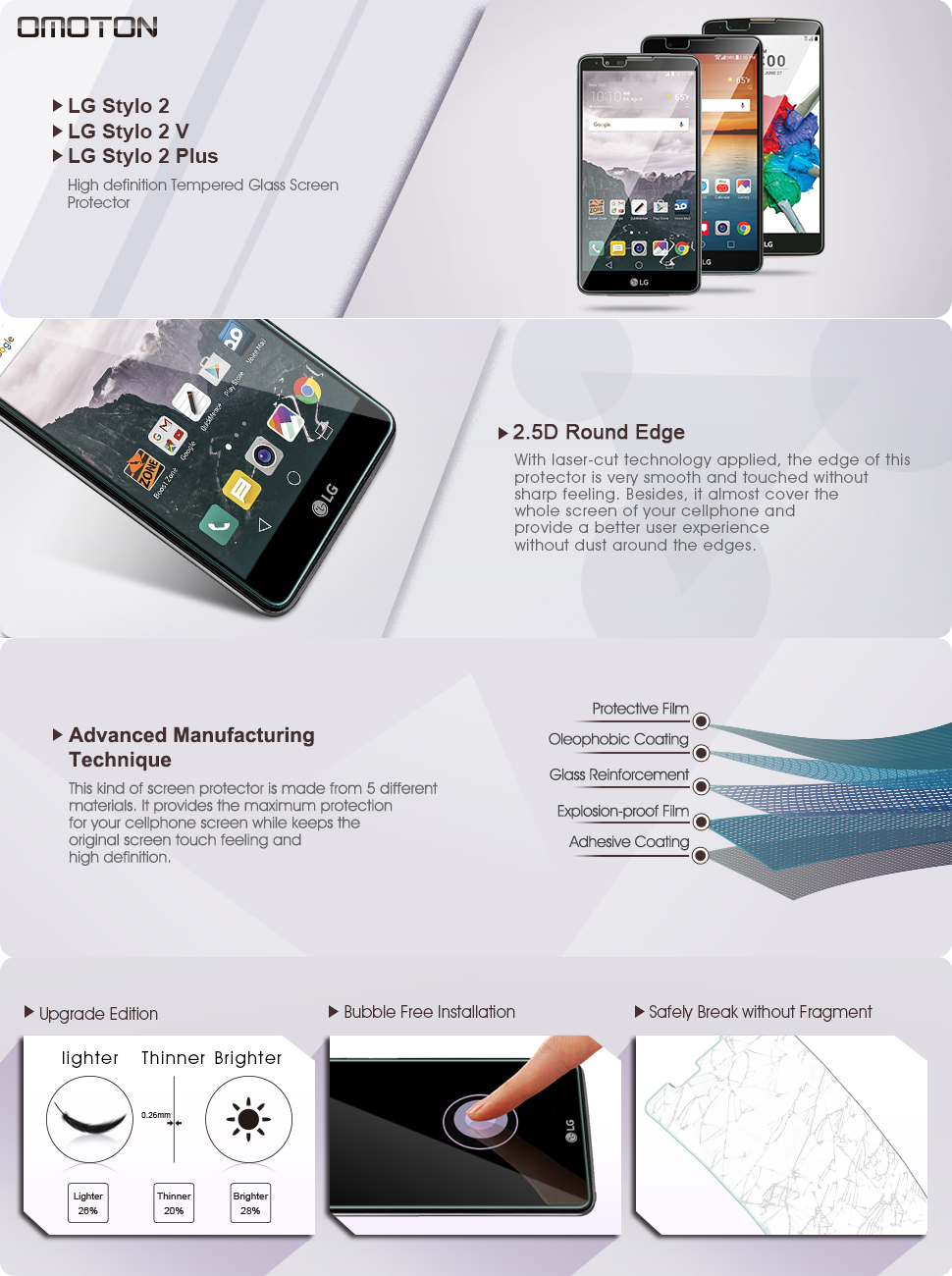 Omoton: High Definition Tempered Glass Screen Protector