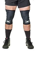 grippy x sleeves knee black mark bell