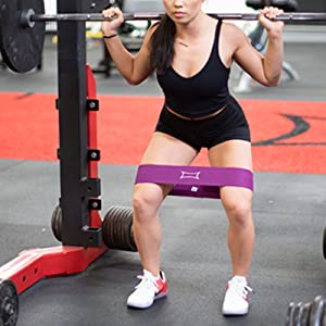 hip circle, squat, form, purple