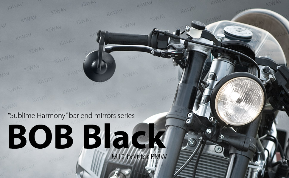 Miroir rond noir Gauche Mirror Black Round BMW K k1 R 16 V Roue Coulée ABS Roue Coulée
