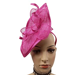 e5cb93becb107 ABPF Sinamay Teardrop Fascinators Headband Hats Derby Racing Hat ...