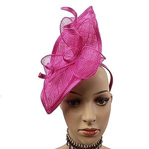 b30bbb70 Red/Black Sinamay Base Fascinator Headband Hats Ascot Racing Hat ...