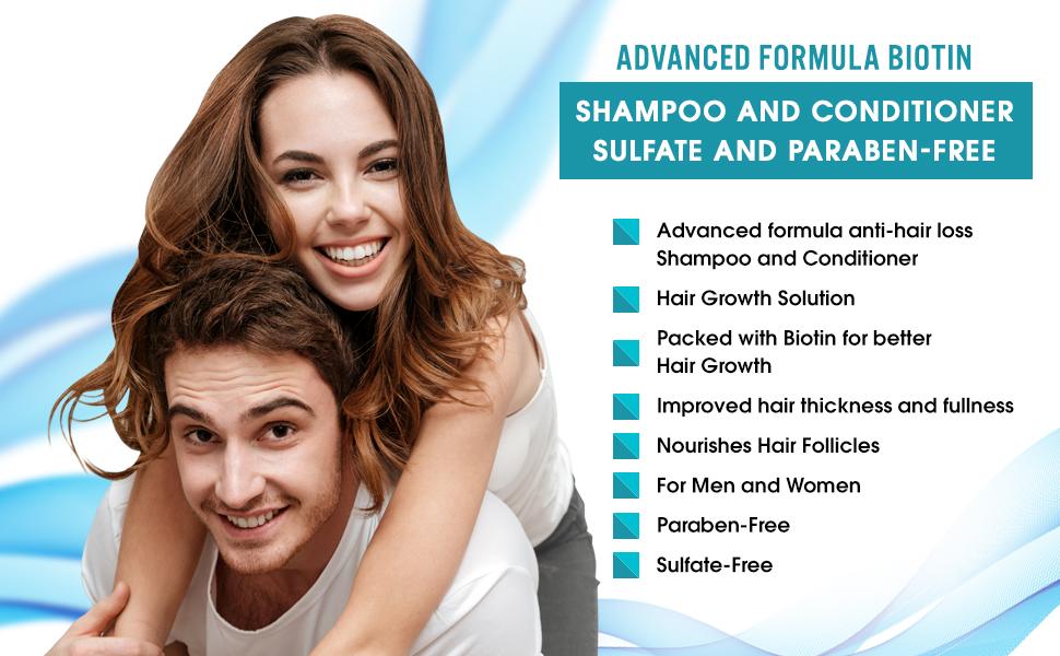 Advanced Formula Biotin Shampoo and Conditioner Set