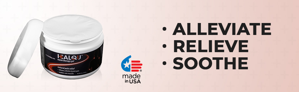 alleviate relieve soothe pain made in usa