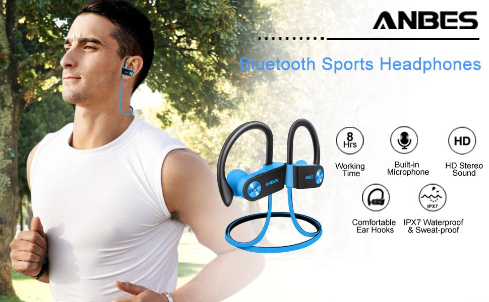 Sport earbuds blueblack