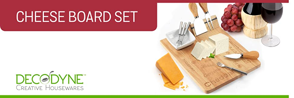 Amazon.com | Cheese Board Set - Set Includes 3 Piece Cheese Knife ...