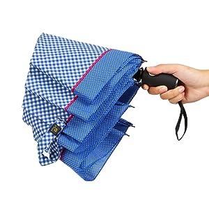 Amazon.com: Kobold 8 Ribs paraguas cuadrícula paraguas 3 ...