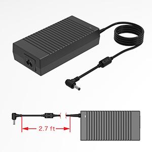 180W Asus Rog Laptop Charger,19.5V 9.23A 180W Asus Rog Power Adapter Compatible Asus Rog G55 G55VW G46VW G70 G75 G75VW G75VX A53 A53S G750JM G750JS ...