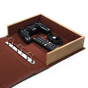 remote controller box video game storage coffee table safe