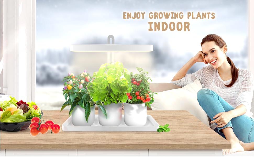 GrowLED Full Spectrum Height Adjustable Indoor Herb Garden