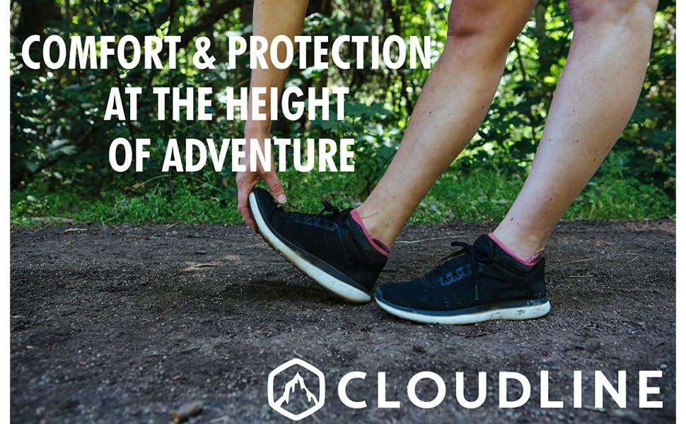 cloudline merino wool no show ankle running sock