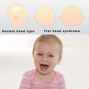 Baby Head Shaping Pillow, Baby Flat Head Pillow for Newborns