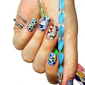 Amazon.com : VAGA Nail art supplies acrylic nail kit with 5 Nail ...
