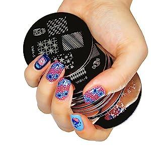 accessories case short nail tips nail tattoos glitter flakes nail polish kids nail decor chrome nail