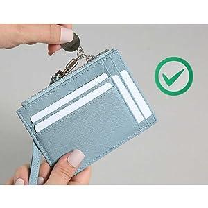 Amazon.com: Serman Brands, cartera delgada con cierre RFID ...