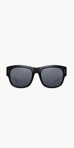 Oversized Square Over Glasses Sunglasses