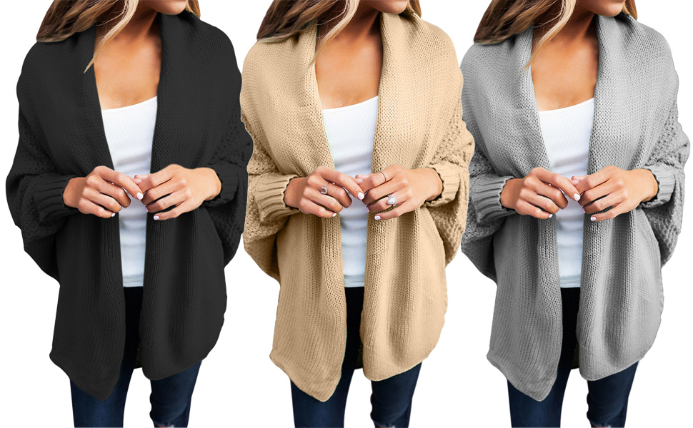 de8a7b31f4 Stay Cozy and Extra Warm in This Casual Open Front Knit Cardigan Sweater