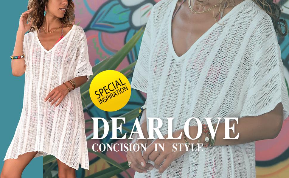 78f2073f29e Dearlove Women s Summer Bathing Suit Cover Up Bikini Swimsuit Slit ...