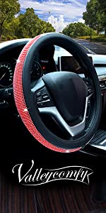 Colorful Diamond Steering Wheel Cover with Bling Bling Crystal Rhinestones