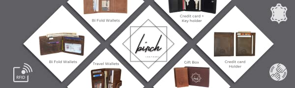 Birch Leathers, leather wallets, credit card holders, rfid blocking, full grain leather