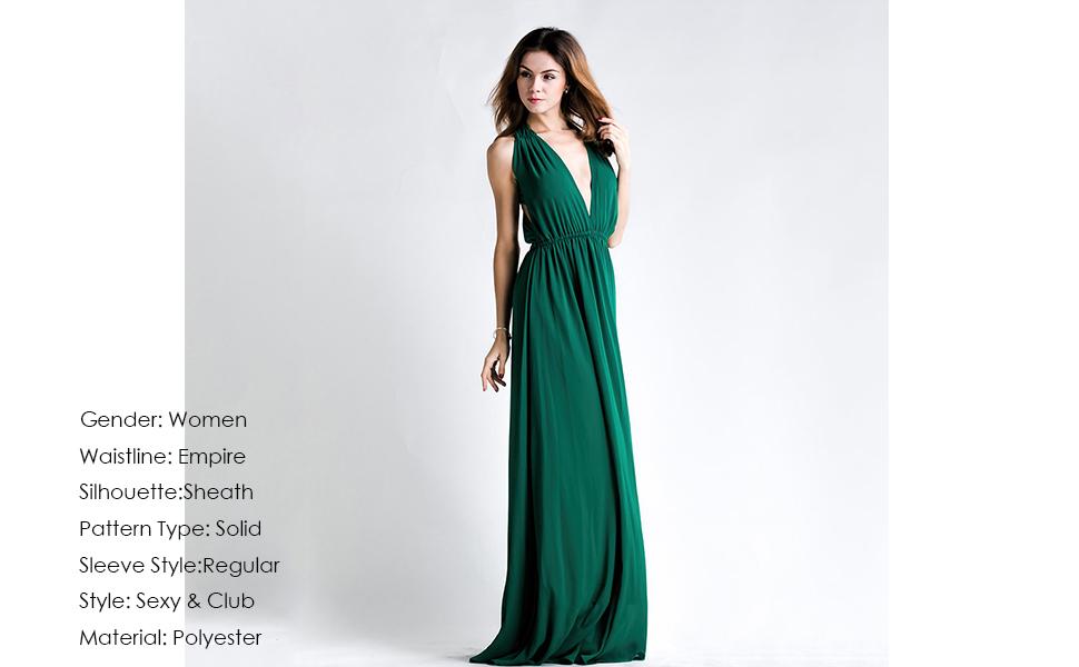 85265058a4 Miss ord Sexy Deep V Backless Sleeveless Cross Back Maxi Dress
