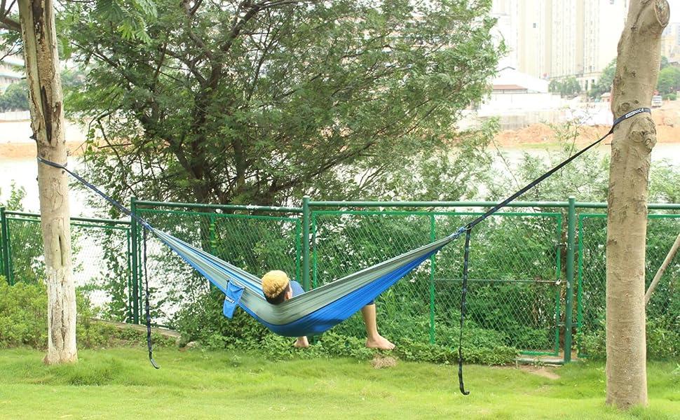 Amazon Wonenice Camping Hammock Portable Lightweight Double