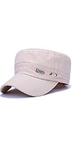 6334f00f4fbf85 ChezAbbey Solid Brim Flat Top Cap Army Cadet Military Hat Peaked Cap ·  ChezAbbey Solid Brim Flat Top Cap Army Cadet Style Military Ripped Hat  Visor ...