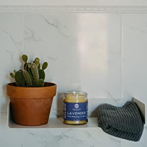 Great for Home Bathroom Living Room Office Study Yoga Spa Solstice Naturals 9 oz Eucalyptus Scented All Natural 100/% Pure Beeswax Aromatherapy Candle Made with Essential Oil