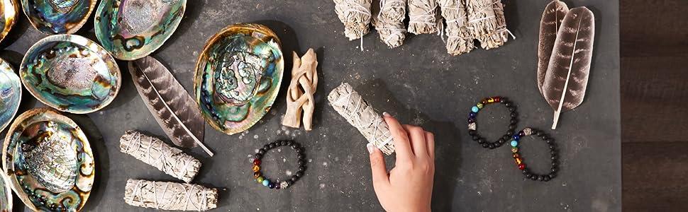 jl local smudging kit white sage chakra alternative healing new sustainable age