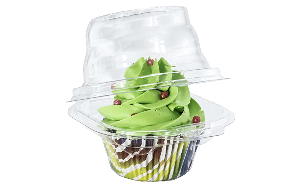 Individual Cupcake Container Clear Plastic