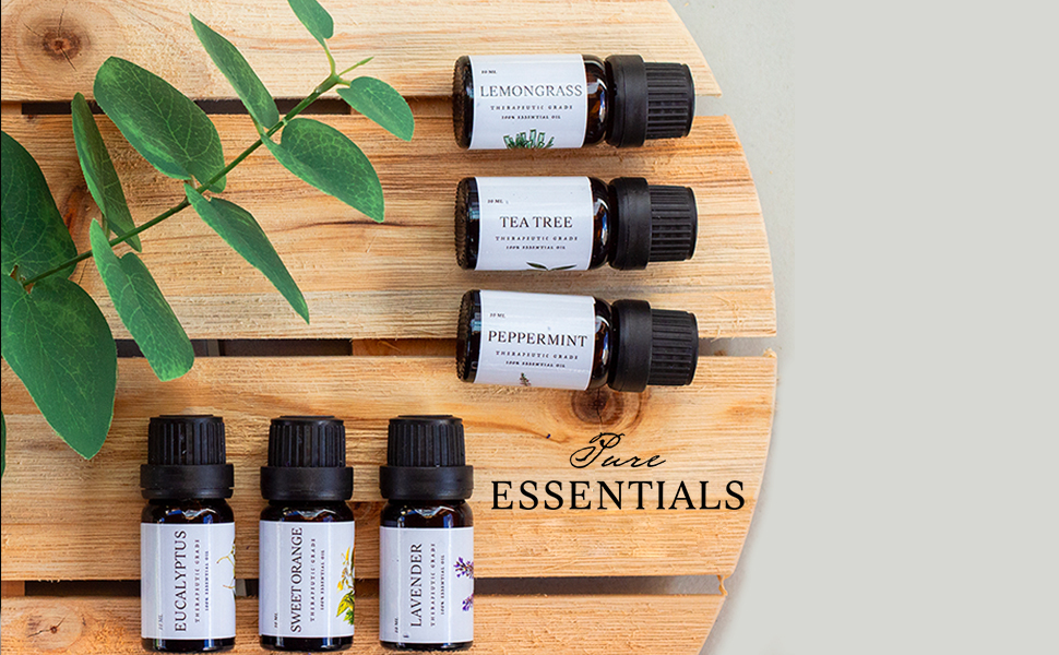 essential oils pure aroma pure essentials lavender lemongrass sweet orange peppermint tea tree