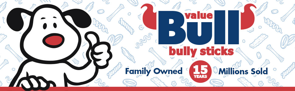 ValueBull Natural Bully Sticks - Family Owned, Millions Sold, 15 Years