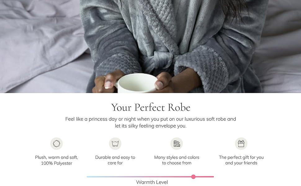womens soft plush robe
