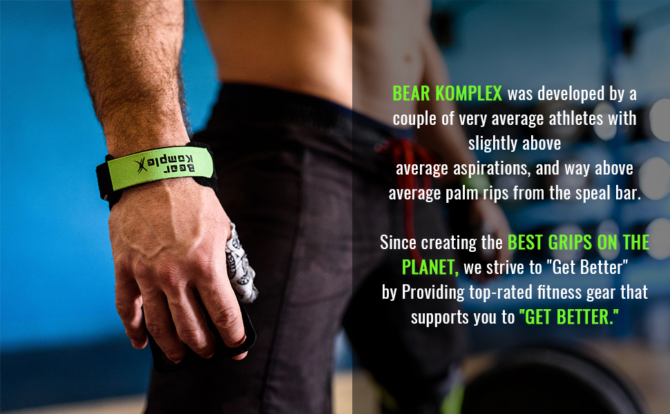 Best Bear Komplex 3 hole hand grips leather for Home Workouts Like Pull-ups, Weightlifting, WODs with Wrist Straps, Comfort and Support, Hand Protection from Rips and Blisters for Men and Women
